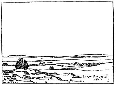 Verlore-klein lê op die Rand / hul huisie in die trekkersland.