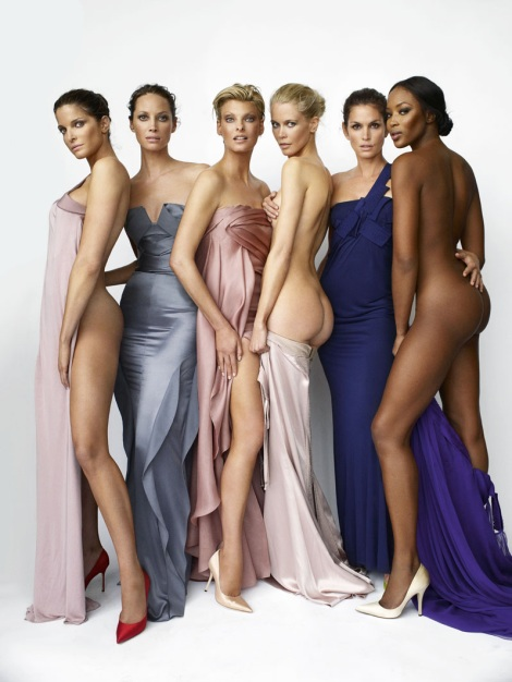 Stephanie Seymour, Christy Turlington, Linda Evangelista, Claudia Schiffer, Cindy Crawford &amp; Naomi Campbell